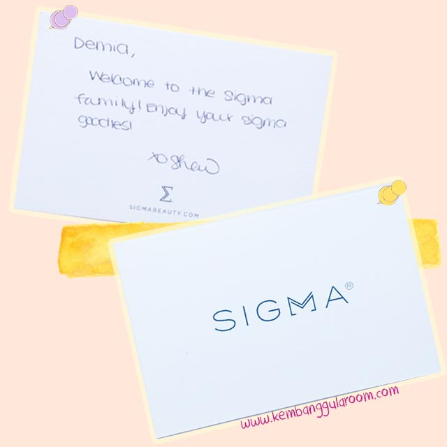 Welcome Gift from Sigma Beauty