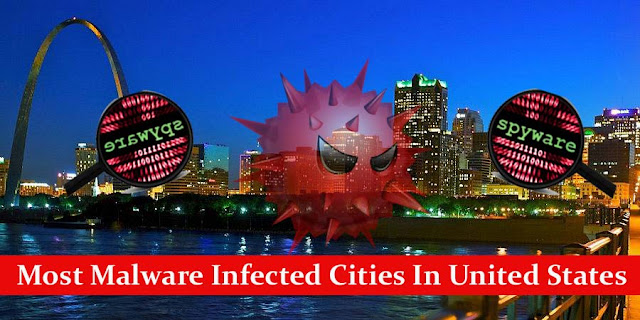 Malware Infected Cities In The United States