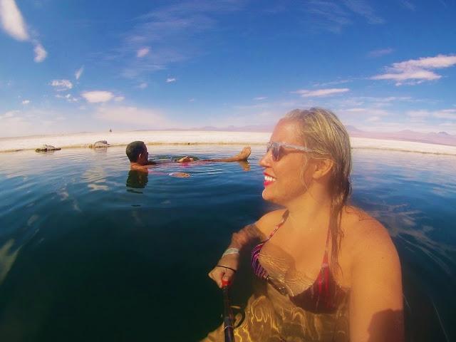 Mor relaxadão na Laguna Cejar