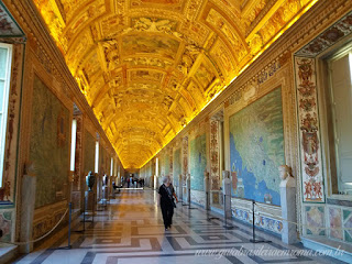Três tetos dos Museus Vaticanos