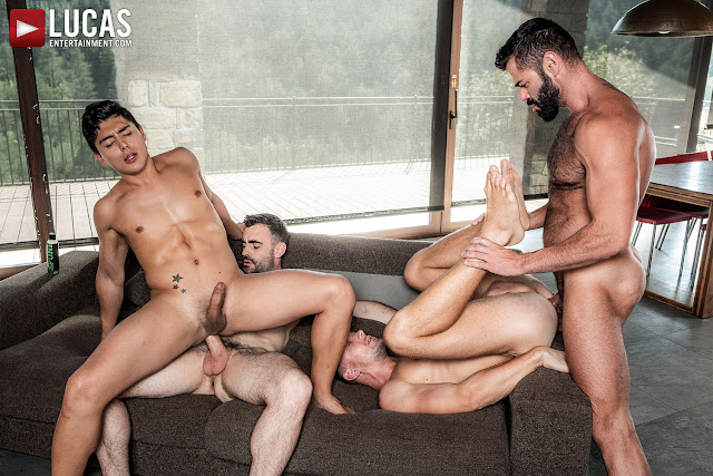 LucasEntertainment - MAX, ANDREY, VICTOR, KEN | RAW BROS FOURSOME