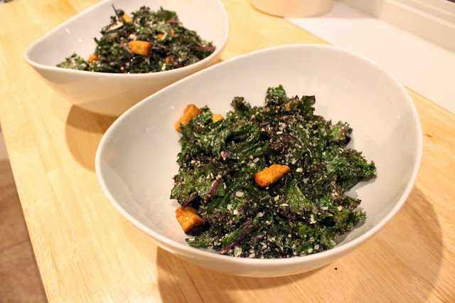 How to massage kale - Fit Girl's Kitchen