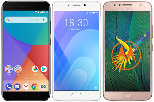 Xiaomi Mi A1 64G vs Meizu M6 Note vs Motorola Moto G5s Plus