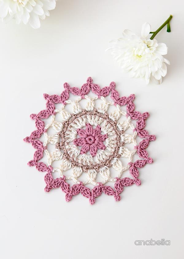 Summer coasters Crochet Motif 6_2017 by Anabelia Craft Design