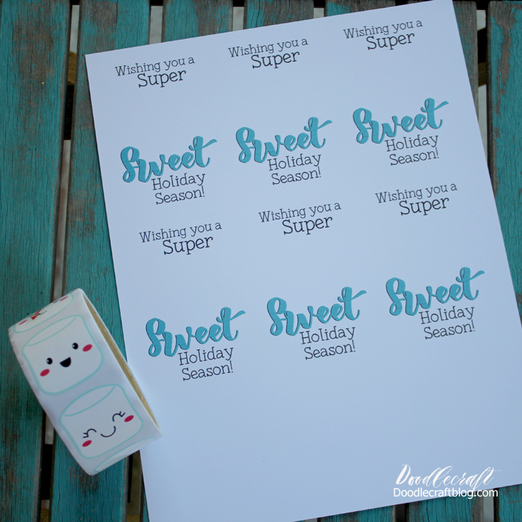 Doodlecraft: Super Sweet Holiday Treat Bucket with Printables!