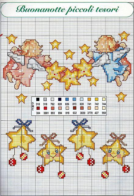 Scarica schemi a punto croce for Ricami a punto croce per neonati