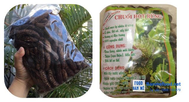 Chuối hột rừng ngâm - Banmefood.net