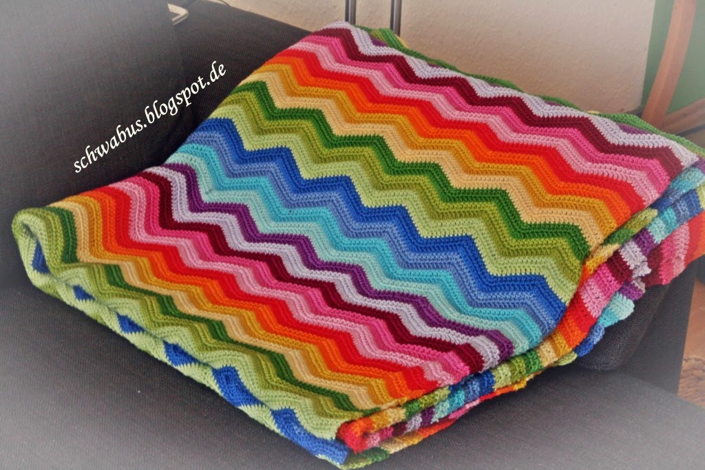 Made by Schwabus: Ripple-Blanket