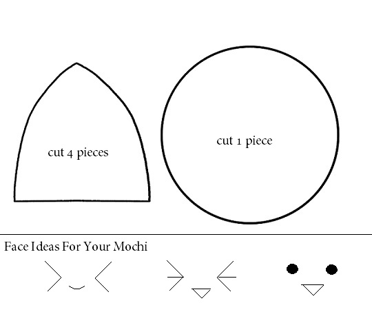 How to make a kawaii mochi plushie tutorial hapy friends for Felt plushie templates