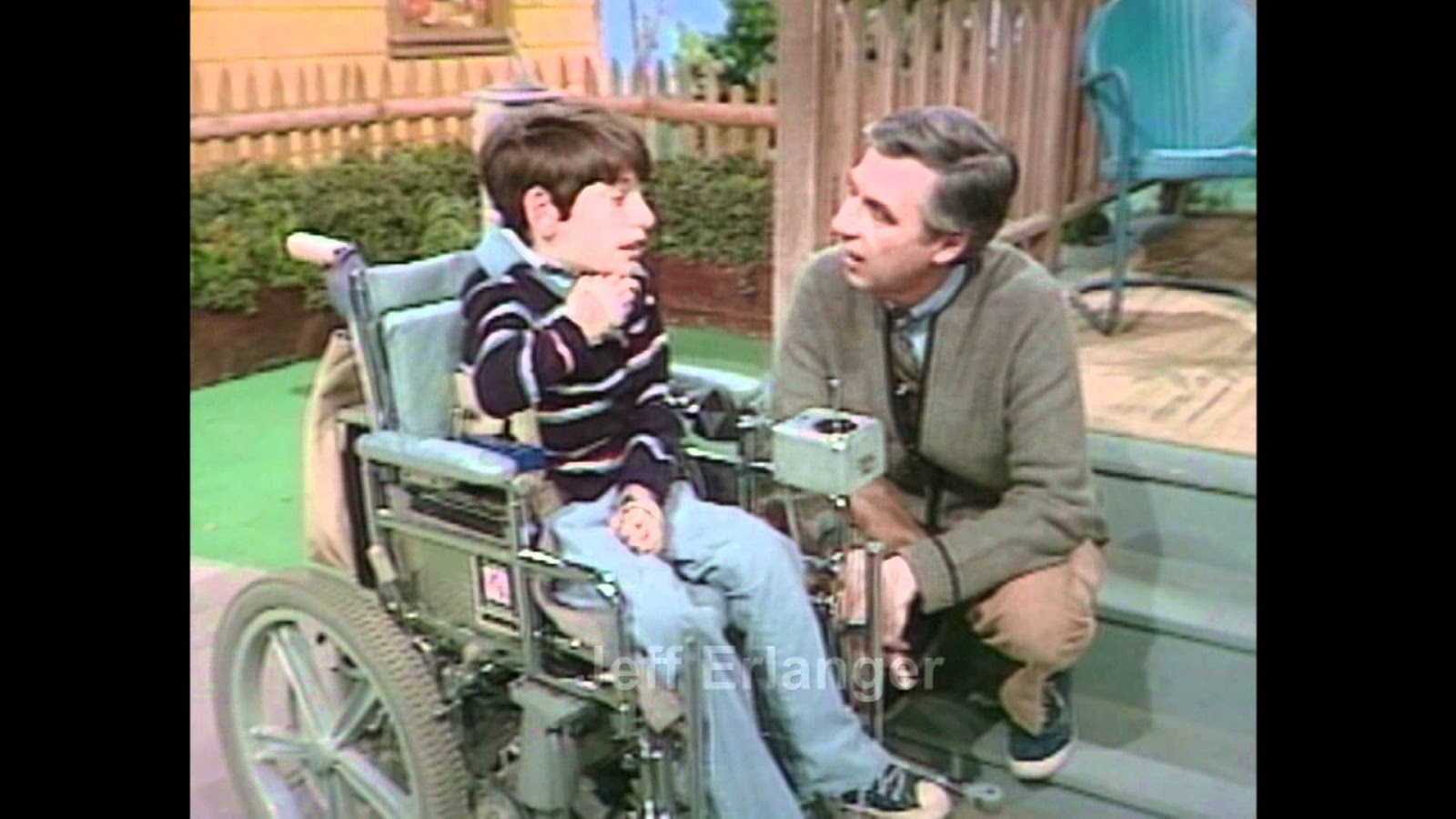 All Things Are Bound Together All Things Connect Mr Rogers Sings It S You I Like A Song He Composed With A Disabled Child In Wheelchair