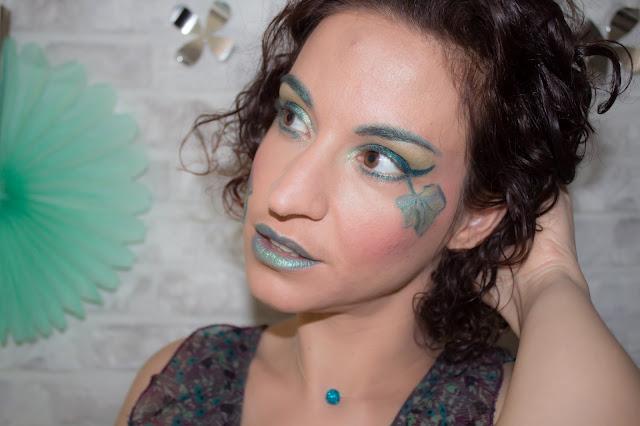 lèvres colorées vert emeraude