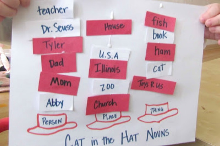 The Cat in the Hat Noun Sort