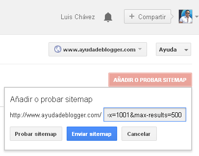 Como enviar un SiteMap a Google
