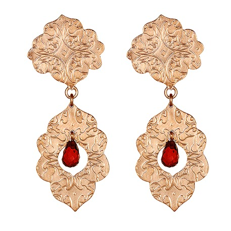 red, love Valentines, garnets, chandelier earrings