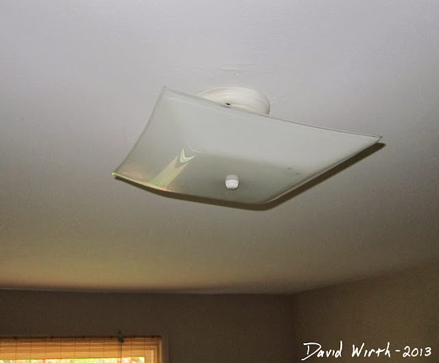 remove old ceiling light, fixture, replace