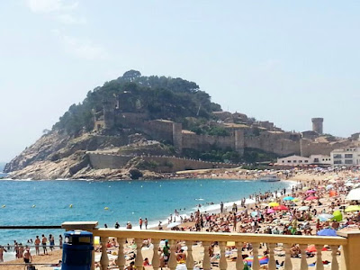 Castle and beach in Tossa de Mar