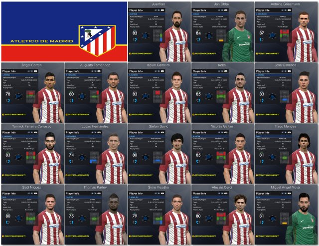 PES 2017 Club Atlético de Madrid Facepack