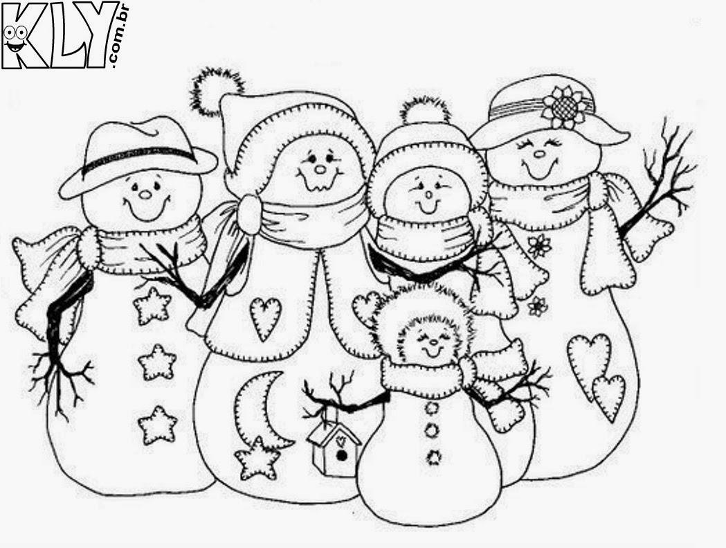 Boneco De Neve Desenhos Para Colorir Tudo Se Transforma Educando