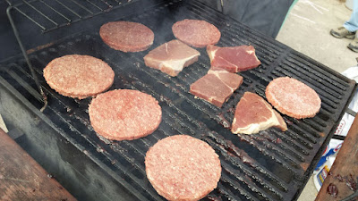 Cooking on the grill - Burgers and steak