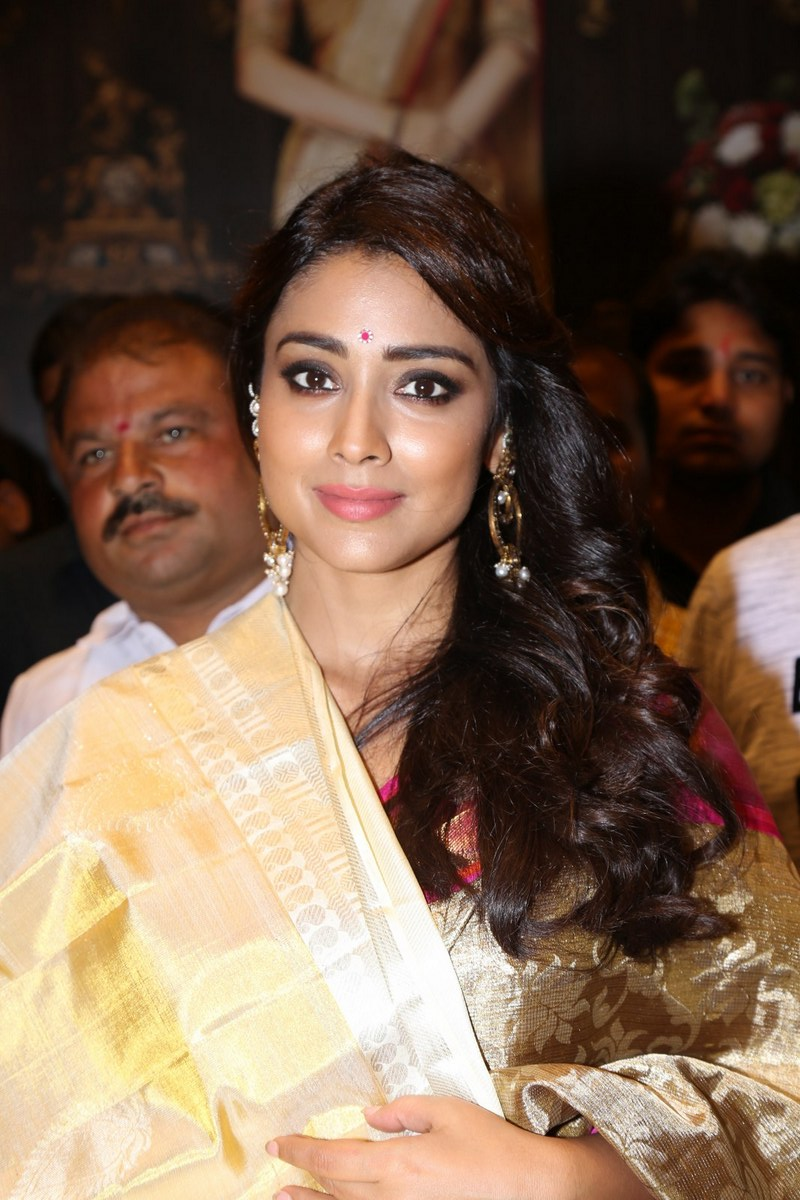 Shriya Saran At VRK Silks Himatnagar Pics
