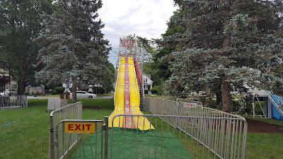 big slide set up on the Town Common