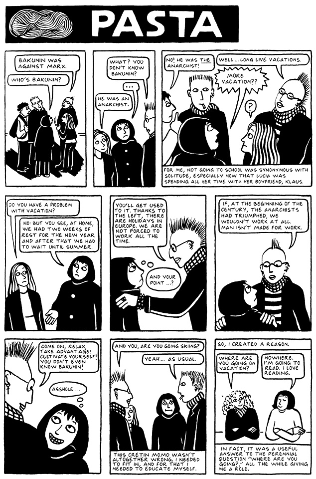 Read Chapter 3 - Pasta, page 19, from Marjane Satrapi's Persepolis 2 - The Story of a Return