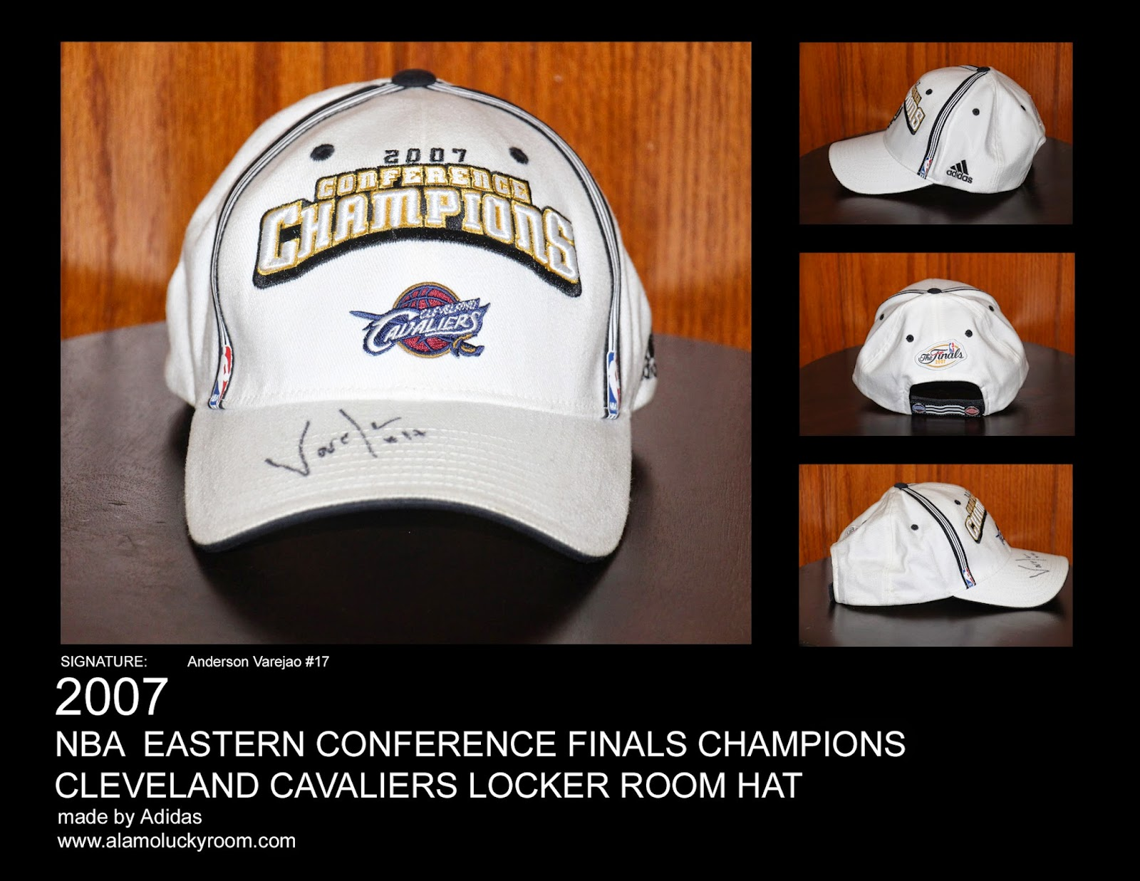 29b70c03c92 ... switzerland 2007 cleveland cavaliers nba eastern conference finals  champions locker room hat signed 5a09b d9302