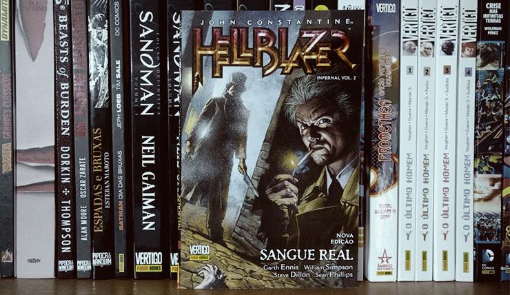 Capa da HQ Hellblazer Infernal Vol.2: Sangue Real