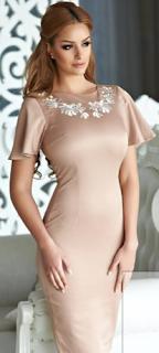 Cumpara de aici aceasta rochie  brodata Diva Mystic de culoare crem