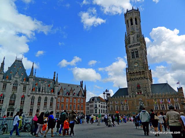 Praça do Mercado (Markt), Bruges, Bélgica