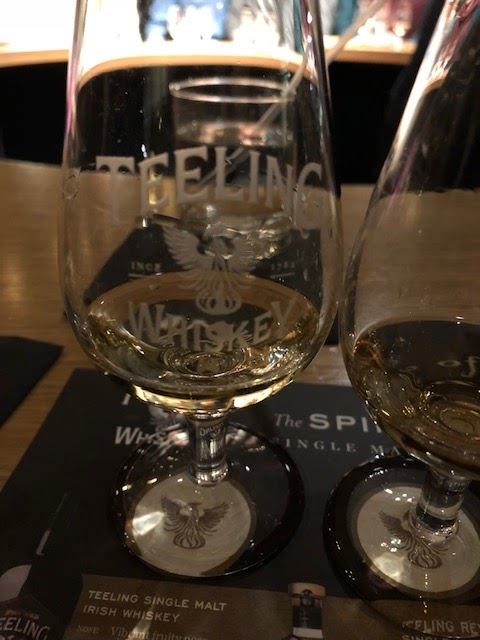 Teeling Distillery whiskey tasting