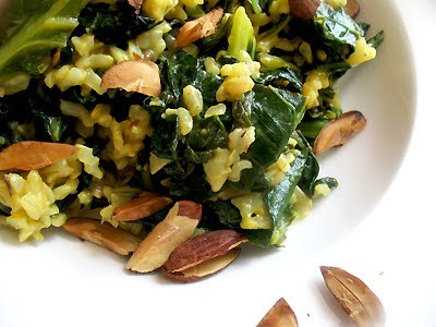 collard greens with brown rice