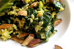 Spicy Brown Rice and Collard Greens