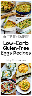 Top Ten Favorite Low-Carb and Gluten-Free Egg Recipes found on KalynsKitchen.com