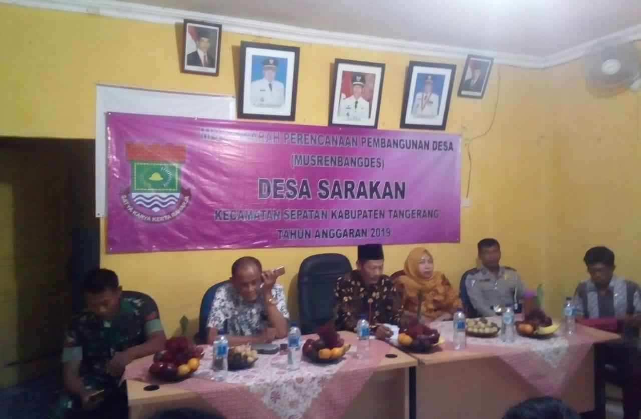Musrenbagdes Sarakan, Realisasi Program Pembangunan Desa Sarakan Dapat Teralisasi