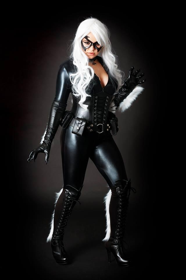 JessD con su cosplay de Black Cat