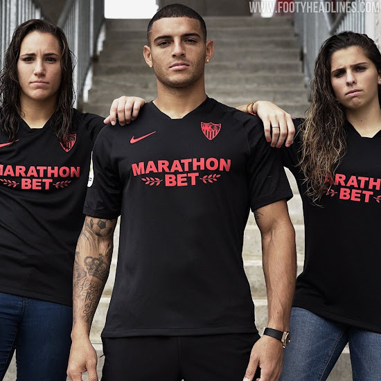 Sevilla 19 20 Black Edition Kit Released Footy Headlines