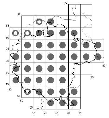 Mapa de distribució de Spiranthes spiralis a la Garrotxa 2013