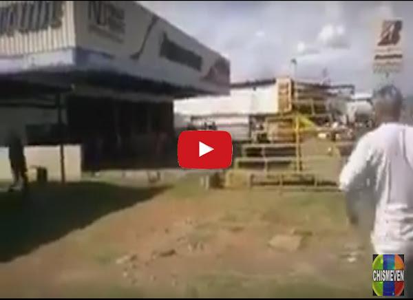 Saquean cauchos en la Bridgestone de Ciudad Bolívar