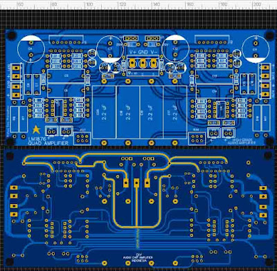 LM1876 Quad (4 Channel) Amplifier Gainclone