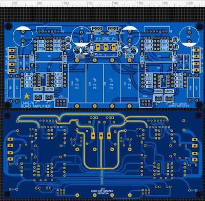 LM1876 Quad (4 Channel) Amplifier Gainclone