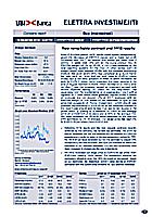 Studio societario di UBI Banca su Elettra Investimenti