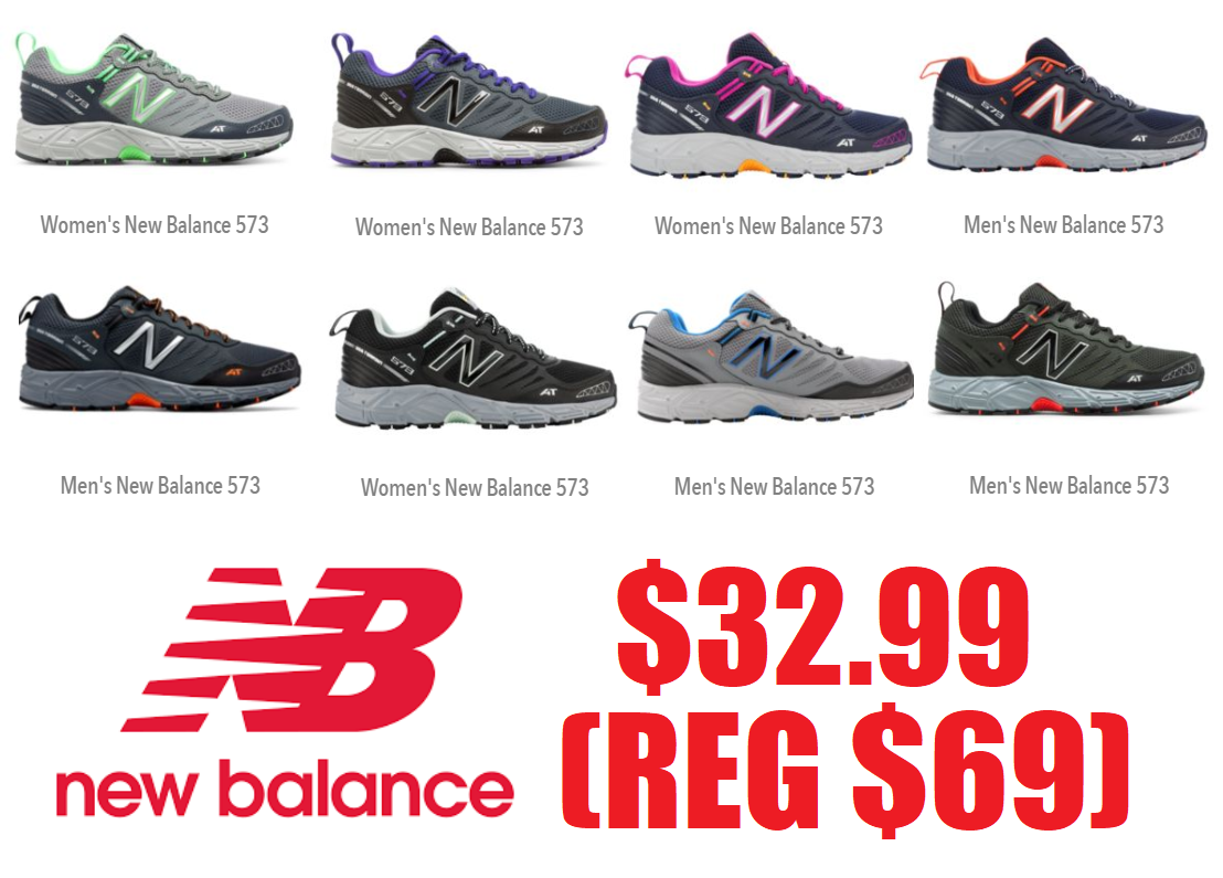 bf77652ed7534 ... purchase mens and womens new balance 573 trail sneakers 32.99 reg 69 free  shipping new balance ...