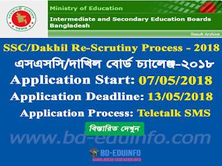 SSC/Dakhil Result Board Challenge 2018