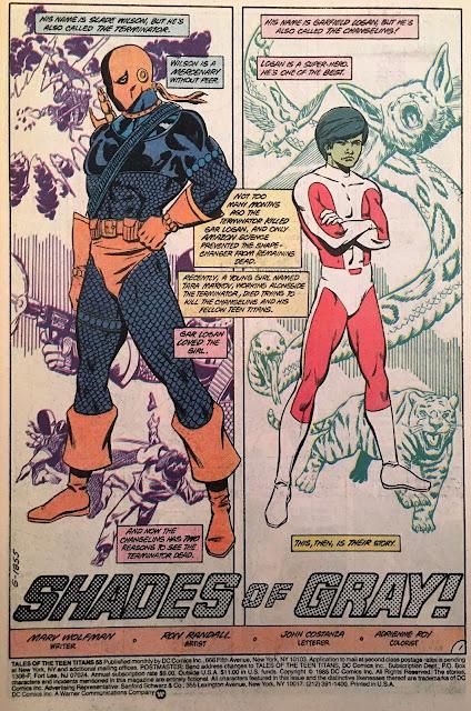 Slade Wilson Garfield Logan Deathstroke Beast Boy Changeling