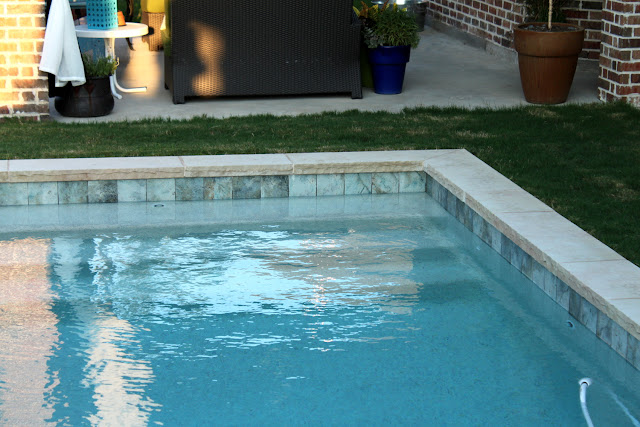 Pixelimpress the backyard and pool reveal for Pool design tiles