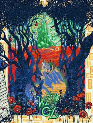 The Wizard of OZ Standard Edition Screen Print by James Eads x Dark Hall Mansion