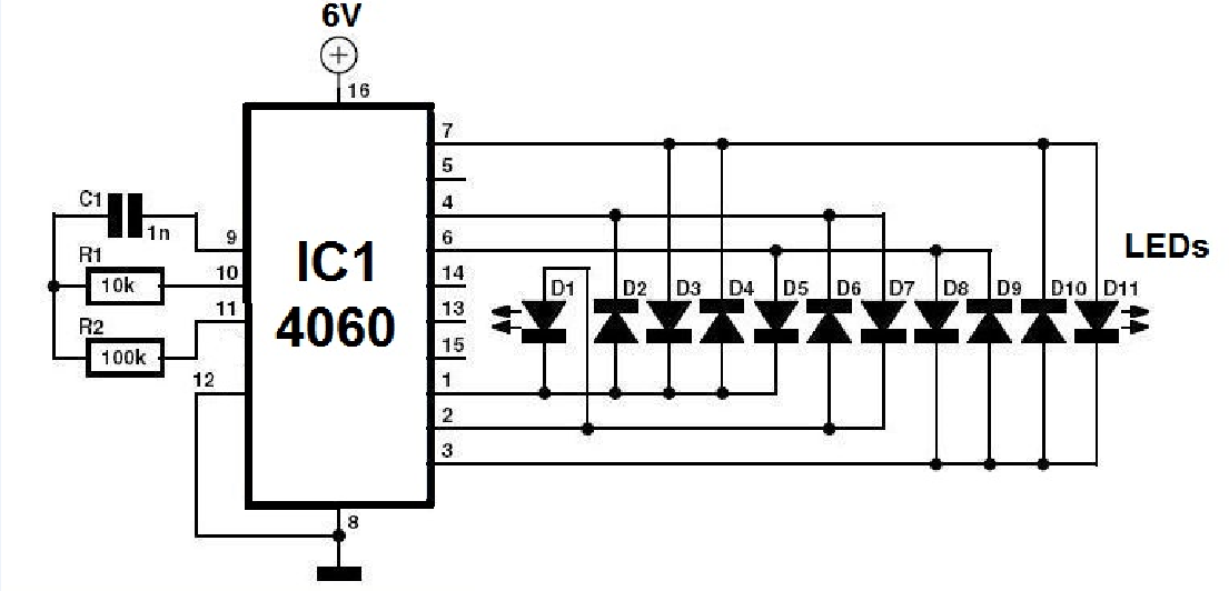 Christmas tree flasher circuit