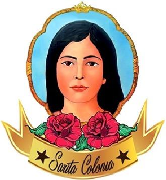 Dibujo de Sarita Colonia con rosas rojas