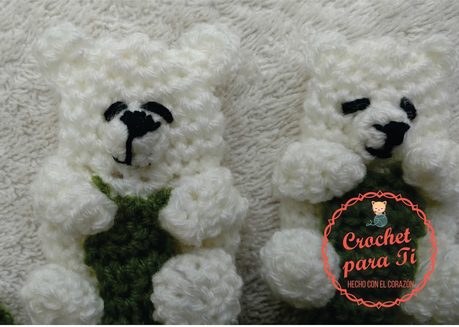 Chupetero de Osito Polar - Patrón Amigurumi ~ Crochet para Ti